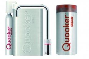 Quooker Cube Nordic single tap square chroom met Combi reservoir