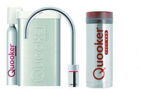 Quooker Cube Nordic single tap round chroom met Pro3 reservoir