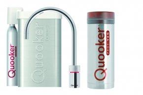 Quooker Cube Nordic single tap round RVS met Pro3 reservoir