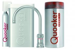 Quooker Cube Classic Nordic single tap round RVS met Combi+ reservoir