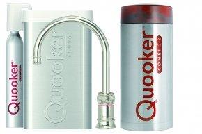 Quooker Cube Classic Nordic single tap round nikkel glans met Combi+ reservoir
