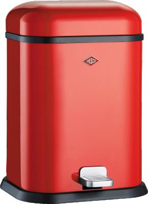 Wesco Single Boy 13 liter afvalemmer rood 13221202