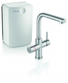 IthoDaalderop Close-In More 4-in-1 kraan Square kraan met boiler 10L RVS met gratis installatie