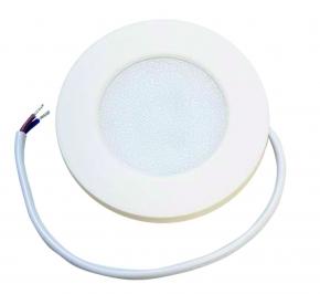 Flat LED spot 230V mat wit